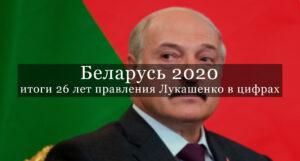 Беларусь 2020: итоги 26 лет правления Лукашенко в цифрах